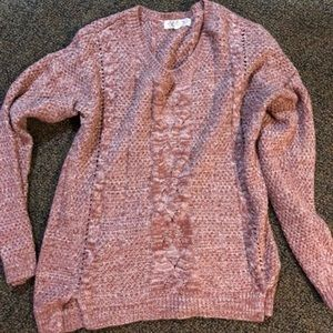 Sweaters - Cozy pink knit sweater